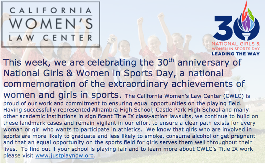 National Girls and Women in Sports Day 2016