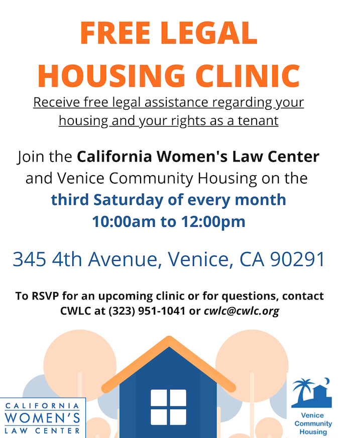 free legal housing clinic flyer
